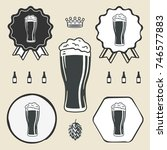 beer glass icon iweb sign...   Shutterstock . vector #746577883