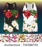 trendy fashion rose design. 5... | Shutterstock .eps vector #746588743