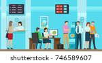 banking services of all kind ... | Shutterstock . vector #746589607