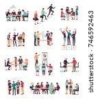 illustration of teamwork... | Shutterstock . vector #746592463