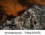 Small photo of Alien Planet Surface landscape
