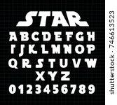 alphabet font template. set of... | Shutterstock .eps vector #746613523