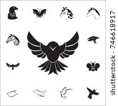 hawk icon. set of animal icons. ... | Shutterstock .eps vector #746618917