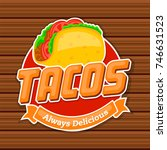 traditional mexican food logo ... | Shutterstock .eps vector #746631523
