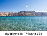 pangong lake in autumn  leh... | Shutterstock . vector #746646133
