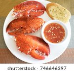 top view of big lobster claws... | Shutterstock . vector #746646397