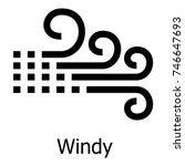 Windy Icon. Simple Illustratio...