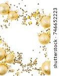 christmas composition. frame... | Shutterstock . vector #746652223