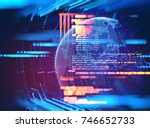 programming code abstract... | Shutterstock . vector #746652733