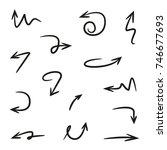 hand drawn arrows | Shutterstock .eps vector #746677693