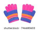 colorful gloves for kids... | Shutterstock . vector #746680603