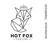 hot fox logo template | Shutterstock .eps vector #746684143