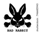 Stock vector black bad rabbit ransomware logo design on white background vector illustration cyber crime and 746685943
