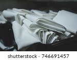 Cloth Table Linens Folded And...