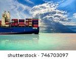 logistics import export...   Shutterstock . vector #746703097