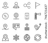 thin line icon set   pointer ... | Shutterstock .eps vector #746721637