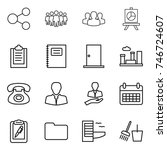 thin line icon set   share ... | Shutterstock .eps vector #746724607