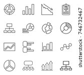 thin line icon set   target... | Shutterstock .eps vector #746732467