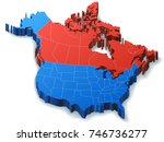 illustration of north america... | Shutterstock . vector #746736277