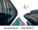 3d rendering low angle view of... | Shutterstock . vector #746740477