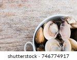 fresh enamel venus shell ... | Shutterstock . vector #746774917