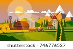 colorful flat design of... | Shutterstock .eps vector #746776537