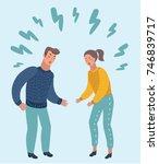 vector cartoon illustration of... | Shutterstock .eps vector #746839717