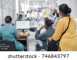 blurry patient waiting in... | Shutterstock . vector #746843797