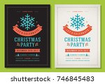christmas party invitation... | Shutterstock .eps vector #746845483