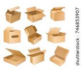vector illustration of carton... | Shutterstock .eps vector #746853907