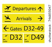 Airport Signs Isolated On Whit...