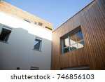 angle of building in summer ... | Shutterstock . vector #746856103