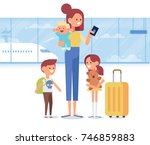 people traveling design. happy... | Shutterstock .eps vector #746859883