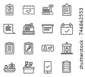 thin line icon set   report ...   Shutterstock .eps vector #746862553
