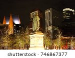 center of the hague  the... | Shutterstock . vector #746867377