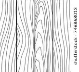 abstract hand drawn wooden... | Shutterstock .eps vector #746868013