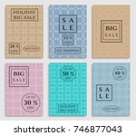 collection of sale banners ... | Shutterstock .eps vector #746877043