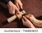 a close up of a skinner and his ...   Shutterstock . vector #746883853