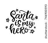 christmas ink hand lettering....   Shutterstock .eps vector #746900593