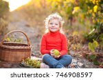smiling blonde kid girl 4 5... | Shutterstock . vector #746908597