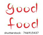chili design good food | Shutterstock .eps vector #746915437