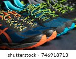 three pairs of exercise... | Shutterstock . vector #746918713
