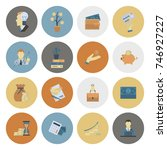 business and finance  flat icon ... | Shutterstock .eps vector #746927227