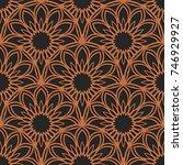 laser cutting seamless pattern. ... | Shutterstock .eps vector #746929927