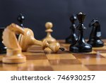 chess game. chess king is... | Shutterstock . vector #746930257