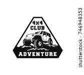 off road car 4x4 vehicle event  ... | Shutterstock .eps vector #746948353