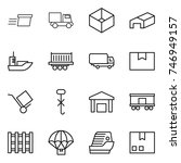 thin line icon set   delivery ... | Shutterstock .eps vector #746949157