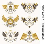 vector vintage heraldic coat of ... | Shutterstock .eps vector #746952007