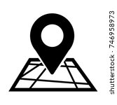 pin location icon | Shutterstock .eps vector #746958973