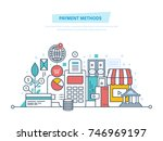 methods and forms of payment ... | Shutterstock .eps vector #746969197